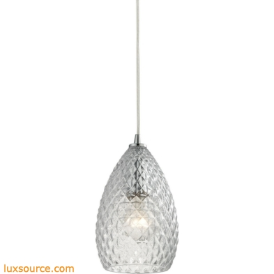 Geval 1 Light Pendant In Polished Chrome 10253/1CL