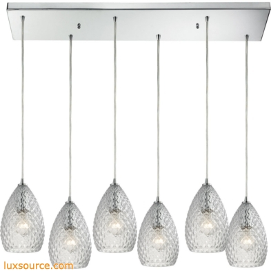 Geval 6 Light Pendant In Polished Chrome 10253/6RC-CL