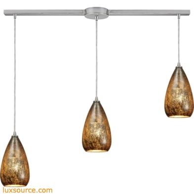 Karma 3 Light Pendant In Satin Nickel 10254/3L