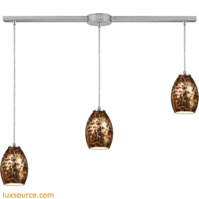 Venture 3 Light Pendant In Satin Nickel 10255/3L