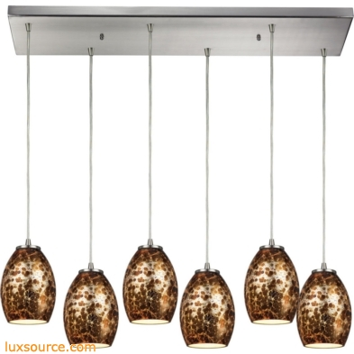 Venture 6 Light Pendant In Satin Nickel 10255/6RC