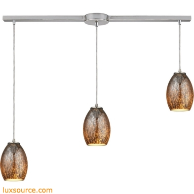 Venture 3 Light Pendant In Satin Nickel 10256/3L