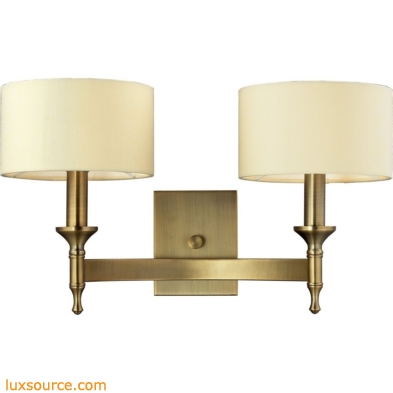 Pembroke 2 Light Wall Sconce In Brushed Antique Brass 10261/2