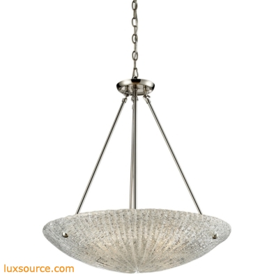Luminese 4 Light Pendant In Satin Nickel