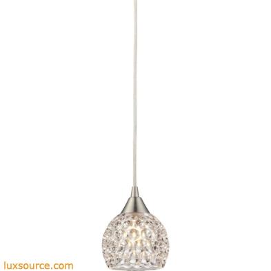 Kersey 1 Light Pendant In Satin Nickel 10341/1