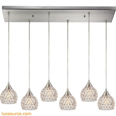 Kersey 6 Light Pendant In Satin Nickel 10341/6RC
