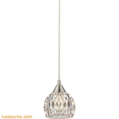 Kersey 1 Light Pendant In Satin Nickel 10342/1