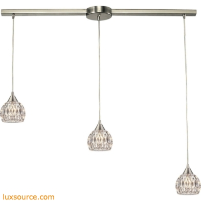 Kersey 3 Light Pendant In Satin Nickel 10342/3L