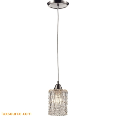 Kersey 1 Light Pendant In Satin Nickel 10343/1