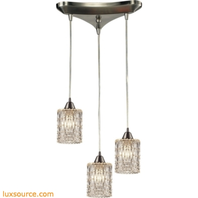 Kersey 3 Light Pendant In Satin Nickel 10343/3