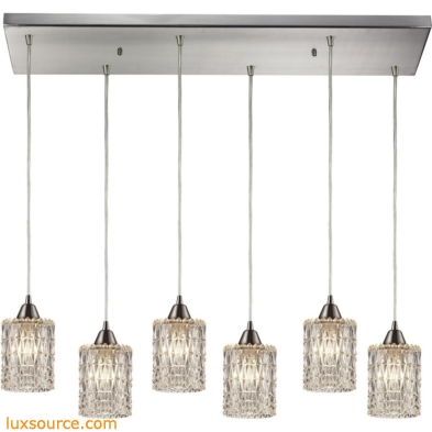 Kersey 6 Light Pendant In Satin Nickel 10343/6RC