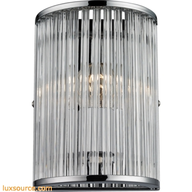 Braxton 1 Light Wall Sconce In Polished Nickel