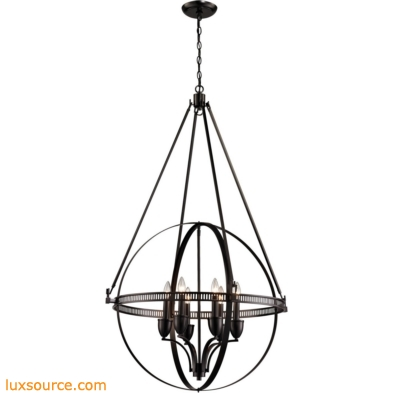 Hemispheres 6 Light Pendant In Oil Rubbed Bronze
