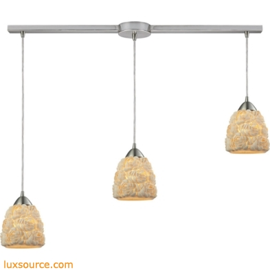 Shells 3 Light Pendant In Satin Nickel 10414/3L