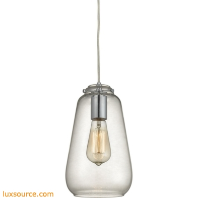 Orbital 1 Light Pendant In Polished Chrome And Clear Glass 10423/1