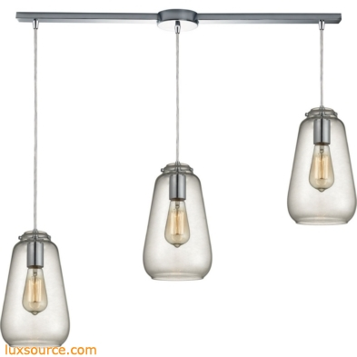 Orbital 3 Light Pendant In Polished Chrome And Clear Glass 10423/3L