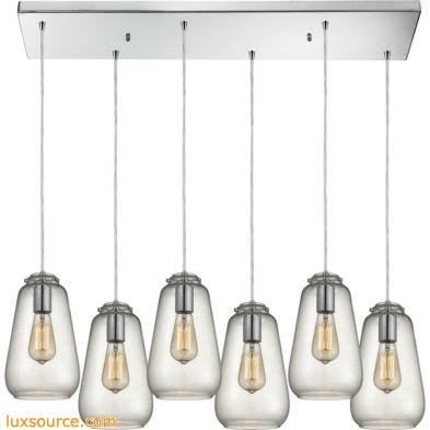 Orbital 6 Light Pendant In Polished Chrome And Clear Glass 10423/6RC