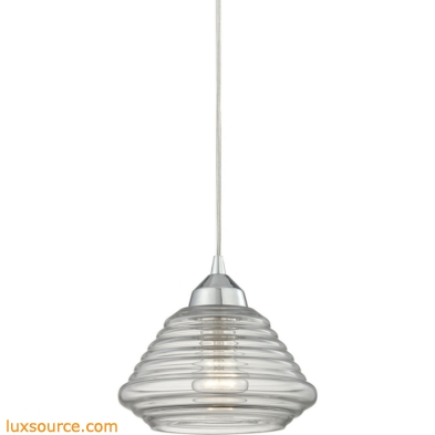Orbital 1 Light Pendant In Polished Chrome And Clear Glass 10424/1
