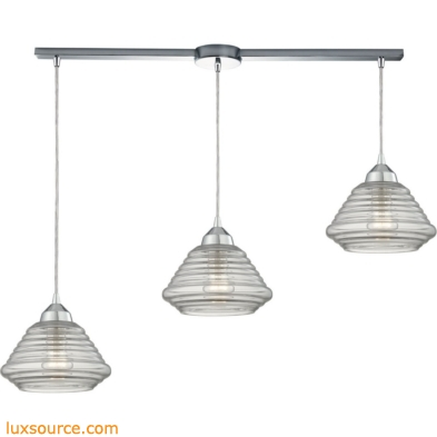 Orbital 3 Light Pendant In Polished Chrome And Clear Glass 10424/3L