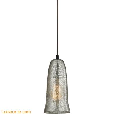 Hammered Glass 1 Light Pendant In Oil Rubbed Bronze 10431/1HME