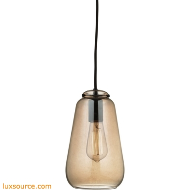 Orbital 1 Light Pendant In Oil Rubbed Bronze And Amber Teak Glass 10433/1
