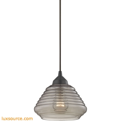 Orbital 1 Light Pendant In Oil Rubbed Bronze And Smoke Glass 10434/1