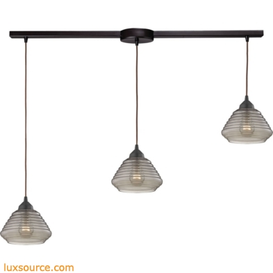 Orbital 3 Light Pendant In Oil Rubbed Bronze And Smoke Glass 10434/3L