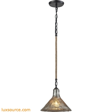 Hand Formed Glass 1 Light Pendant In Oil Rubbed Bronze 10436/1