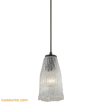 Hand Formed Glass 1 Light Pendant In Oil Rubbed Bronze 10437/1