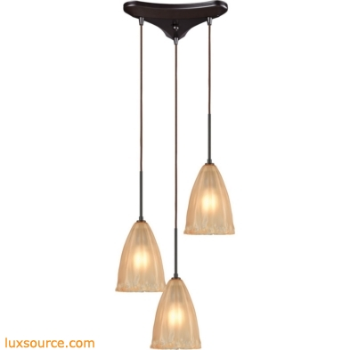 Calipsa 3 Light Pendant In Oil Rubbed Bronze 10439/3