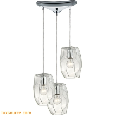 Geometrics 3 Light Pendant In Polished Chrome 10441/3