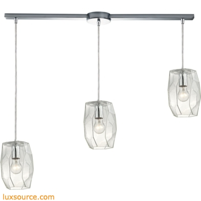 Geometrics 3 Light Pendant In Polished Chrome 10441/3L