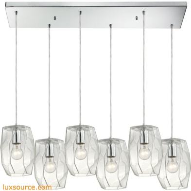 Geometrics 6 Light Pendant In Polished Chrome 10441/6RC