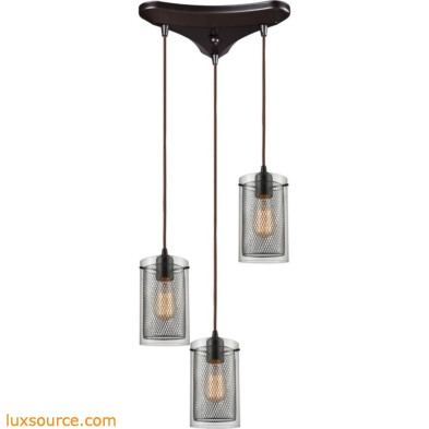 Brant 3 Light Pendant In Oil Rubbed Bronze 10448/3