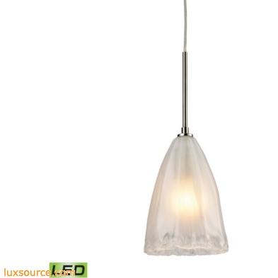 Calipsa 1 Light LED Pendant In Satin Nickel 10449/1-LED