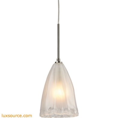 Calipsa 1 Light Pendant In Satin Nickel 10449/1