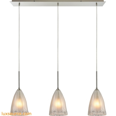 Calipsa 3 Light Pendant In Satin Nickel 10449/3LP