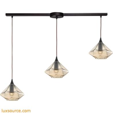 Geometrics 3 Light Pendant In Oil Rubbed Bronze 10450/3L