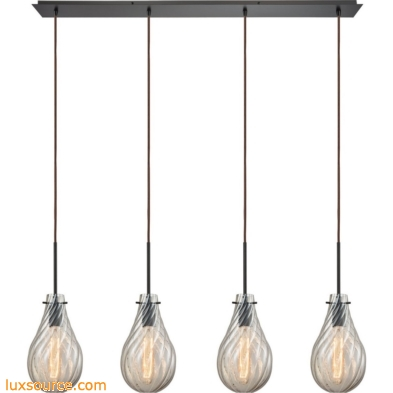 Cirrus 4 Light Pendant In Satin Nickel 10453/4LP