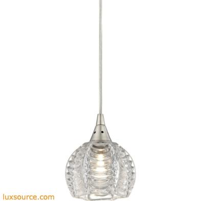 Kersey 1 Light Pendant In Satin Nickel 10455/1