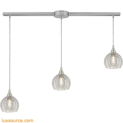 Kersey 3 Light Pendant In Satin Nickel 10455/3L