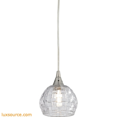 Kersey 1 Light Pendant In Satin Nickel 10456/1