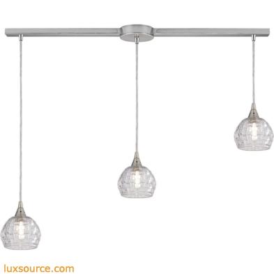 Kersey 3 Light Pendant In Satin Nickel 10456/3L