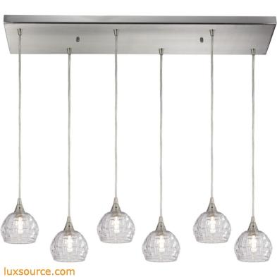 Kersey 6 Light Pendant In Satin Nickel 10456/6RC