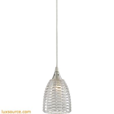 Kersey 1 Light Pendant In Satin Nickel 10457/1