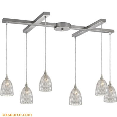 Kersey 6 Light Pendant In Satin Nickel 10457/6