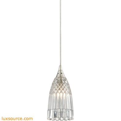 Kersey 1 Light Pendant In Satin Nickel 10458/1