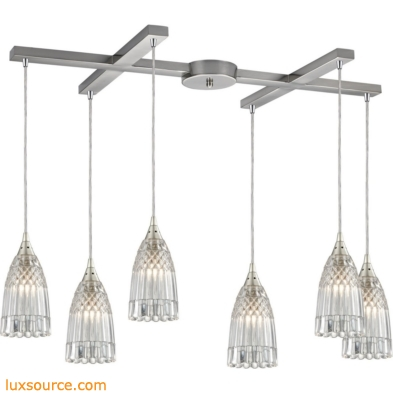 Kersey 6 Light Pendant In Satin Nickel 10458/6