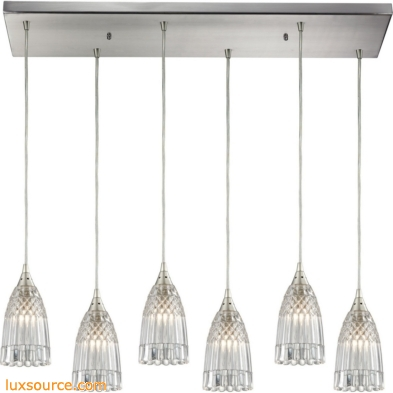 Kersey 6 Light Pendant In Satin Nickel 10458/6RC