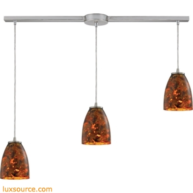 Abstractions 3 Light Pendant In Satin Nickel 10460/3L-LS